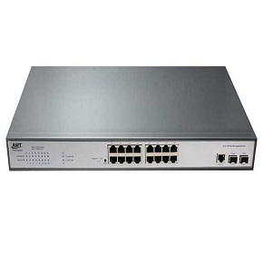 16-Port PoE switch with 2 Gigabit SFP Ports